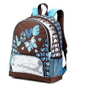 Total Girl Backpack Blue Love  Sports & Outdoors