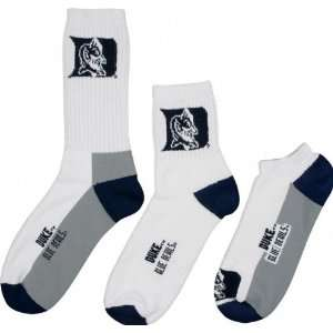 Duke Blue Devils Mens 3 Pair Sock Pack
