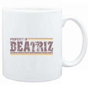 Mug White  Property of Beatriz   Vintage  Female Names