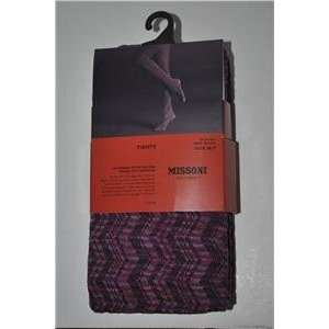 for Target Tights Pantyhose Zig zag Passione Fushia/purple Medium/tall