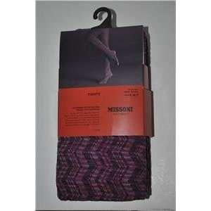 for Target Tights Pantyhose Zig zag Passione Fushia/purple Medium/tall