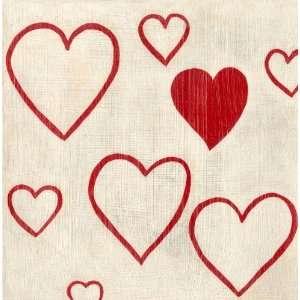 Best Friends Hearts Canvas Reproduction