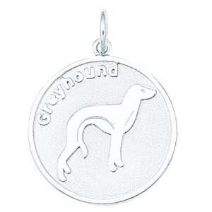 Sterling Silver Greyhound Dog Charm Arts, Crafts & Sewing