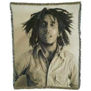 Bob Marley Portrait Throw Blanket