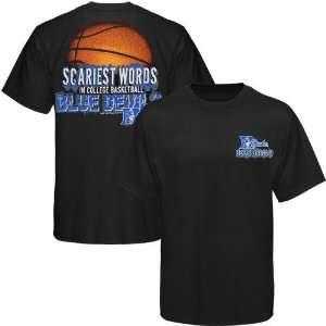Duke Blue Devils Black Scariest Words in Basketball T shirt