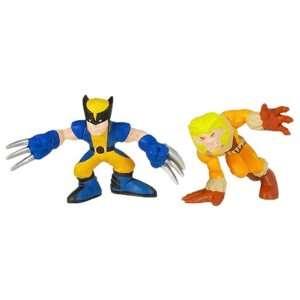 Marvel Super Hero Squad Wolverine & SaberTooth Toys