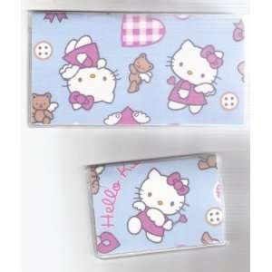 Checkbook Cover Debit Set Made with Hello Kitty Blue Baby Angel Fabric