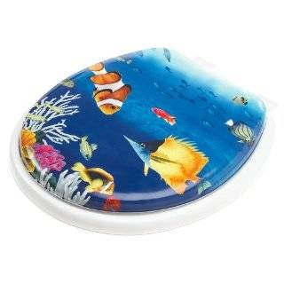Tropical Fish Aquarium Toilet Seat Cover with Lid