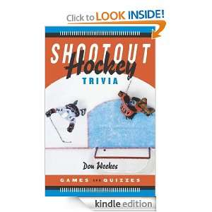 Shootout Hockey Trivia Games and Quizzes Don Weekes