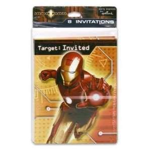 Invitation 8 Piece Iron Man w/Envelopes Case Pack 144