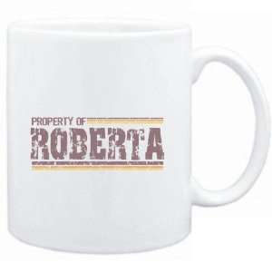 Mug White  Property of Roberta   Vintage  Female Names