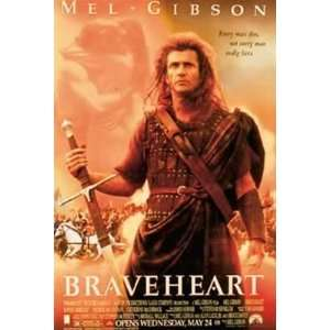 Braveheart Mel Gibson Scottish Epic Movie Poster 27 x 38.5 inches