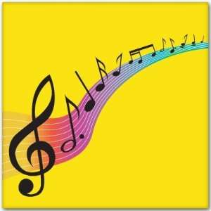 LOVE OF MUSIC musical notes car bumper sticker 4 x 4
