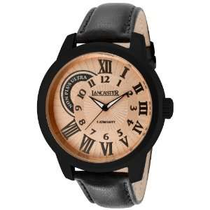 Mens Non Plus Ultra Rose Gold Textured Dial Black IP Case