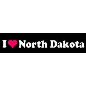 8 I Love Heart North Dakota State Vinyl Decal Sticker
