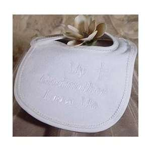 Little Things Mean Alot Godmother Braid Trim Bib Baby