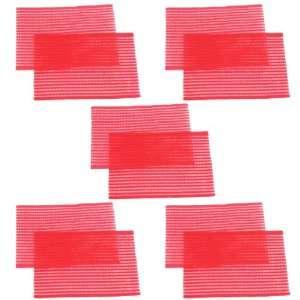 Rosallini 5 Pair Lady Cosmetic Hair Bang Magic Sheets Pads Red Beauty