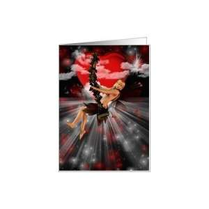 Valentines Day Fairy Heart Will You Be My Valentine Card