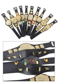 10 X WWE Wrestling Championship Toy Action Figure Belt