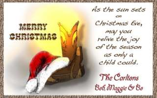 Custom Western Cowboy Christmas Holiday Greeting Cards