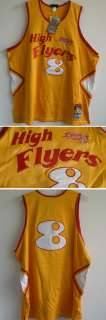 NWT High Flyers 8 Basketball Jersey 1978 Rucker Vintage sz 56