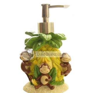 view of the monkey and forest designs luxury bathroom accessories set