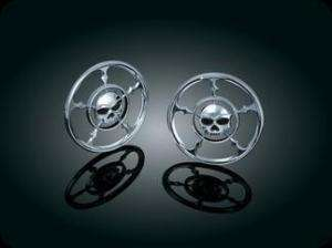Harley Kuryakyn Zombie Chrome Speaker Grill Covers