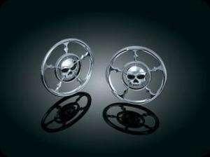 Harley Kuryakyn Zombie Chrome Speaker Grill Covers |