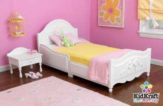 KidKraft Tiffany White Wood Girls Toddler Bed/Cot (706943868218