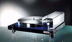 Thorens TD2030 2 Speed Manual Turntable with Blue Acrylic Base, at