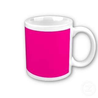 Bright pink color. You can add information, or print plain.