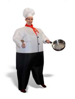 INFLATABLE CHEF COOK HALLOWEEN PARTY ADULT COSTUME SUIT