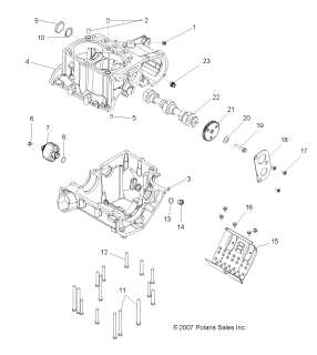 New Starter For Polaris Atv Atp 300 500 Ho Magnum 325 330 500 furthermore Oil Pump Polaris Scrambler 400 also 2005 Polaris Phoenix Wiring Schematic also Kawasaki Bayou 300 Parts List besides Appliance Wiring Diagrams. on polaris sportsman 400 parts list