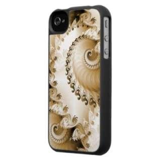 Fractal Sea Shell Design Custom iPhone 4 casing by DigitalDreambuilder