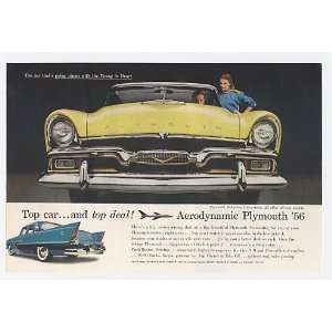 1956 Plymouth Belvedere Convertible Print Ad (10800)