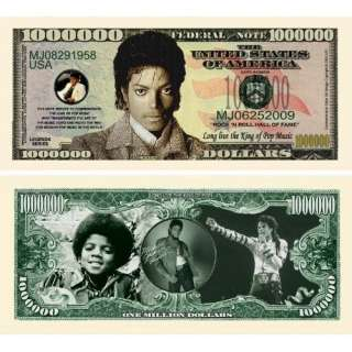 Michael Jackson  King of Pop Million Dollar Bill Novelty Note (Toy