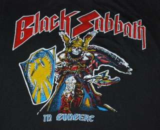 VINTAGE BLACK SABBATH IN CONCERT T  SHIRT 1980 XL