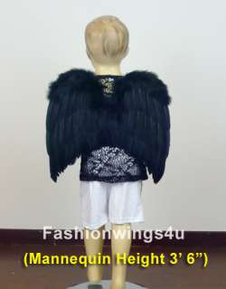 Toddlers flying monkey crow raven black costume feather angel wings