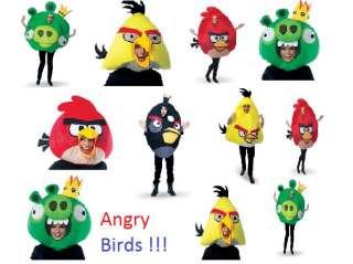 Rovio Angry Birds Mask or Costume Yellow,Red,Black Bird & King Pig #1