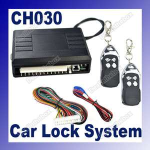 Car Remote Central Lock Locking Keyless Entry Kit System CH030 LED