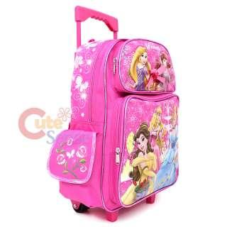 Disney Princess Tangled School Roller Backpack Rolling Bag 3