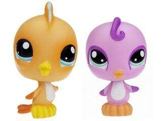 Littlest Pet Shop Birds with Nest Set #975 & #976