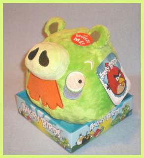 Angry Birds 8 Plush Green Mustache Pig Sound NEW