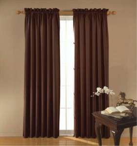 x63 panel black color blackout curtain picture includes 2 panels each