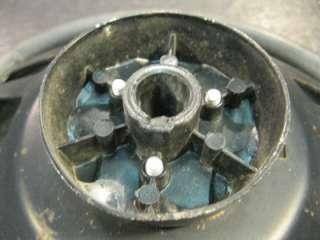 Used Marine Boat 14.5 Steering Wheel Black OMC