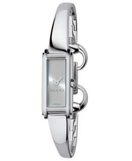Gucci Watch, Womens G Line Collection Stainless Steel Bangle Bracelet