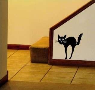 Black Cat Halloween Vinyl Wall Art Word Art Lettering Sticker Print
