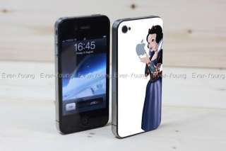 Snow white Apple iPhone 4/4S Sticker Skin vinyl Decal Cell phone cover