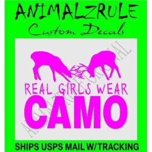 REAL GIRLS WEAR CAMO DEER HUNTING DECAL: Everything Else