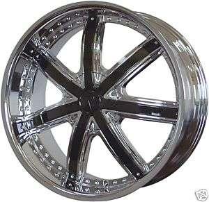 20 Velocity VW 550 Chrome Wheels W/ Black Inserts rims